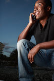 Man on the phone royalty free stock image