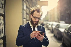Man with phone Royalty Free Stock Images