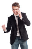 Man with a phone Royalty Free Stock Image
