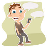 man phone smart using Στοκ Φωτογραφία
