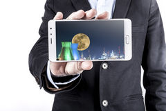 Man And Phone Stock Photo