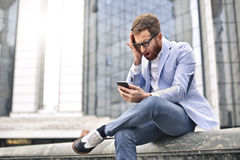 Man with phone Stock Photography