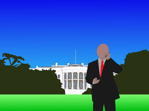 Man on phone at White House Royalty Free Stock Images