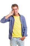 Man at the phone Royalty Free Stock Photo