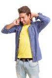 Man at the phone Stock Photos