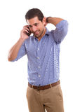 Man at the phone Royalty Free Stock Photography