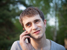 Free Man Phoning In The Park Royalty Free Stock Photos - 31124688