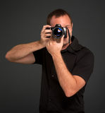 Man photo shooting Royalty Free Stock Images