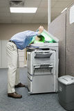 Man photocopying his head Royalty Free Stock Photo