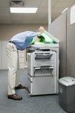 Man photocopying his head Royalty Free Stock Photo