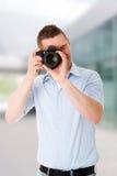 Man photographer with DSLR Stock Image