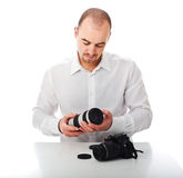 Man and photography Royalty Free Stock Image