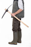 Man with a pickaxe Stock Image