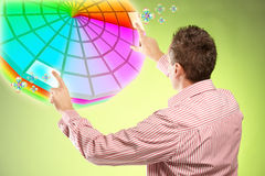 Man picking colors Royalty Free Stock Image