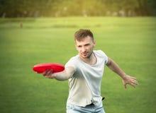 Man in picnic Stock Image