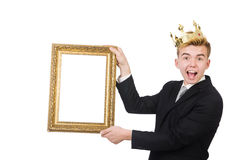 Man with picture frame Royalty Free Stock Photography