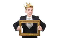 Man with picture frame Royalty Free Stock Photos