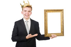 Man with picture frame Stock Photography