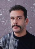 Man with. Picure of a Man with moustaches Stock Photography