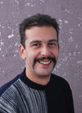 Man with. Picure of a man with moustaches Stock Photos