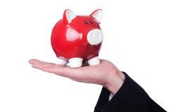Man with piggybank Stock Image