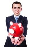 Man with piggybank Royalty Free Stock Photo