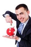 Man with piggybank Royalty Free Stock Photos