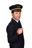 Man in pilot costume Royalty Free Stock Photos