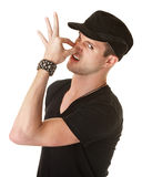 Man Pinching His Nose Stock Images
