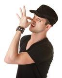 Man Pinching His Nose Stock Images