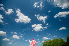 Man in pink dress Stock Photography