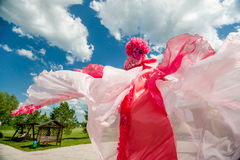 Man in pink fancy dress Royalty Free Stock Photo