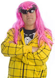 Man with Pink Hair and Funky Sunglasses Royalty Free Stock Photo