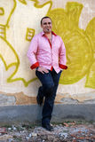 Man in pink   shirt Stock Image