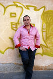 Man in pink   shirt Royalty Free Stock Image