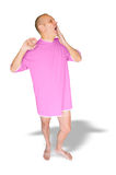 Man in Pink, Yawning Royalty Free Stock Photos