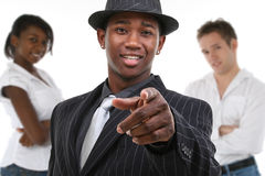 Man in Pinstrip Suit stock images