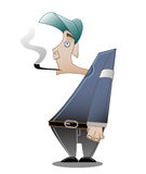Man with pipe. Vector image of a man with a pipe Royalty Free Stock Image
