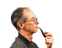 Man with pipe Stock Photos