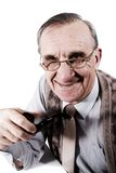Man with pipe Royalty Free Stock Images