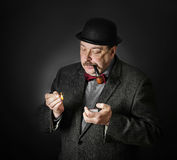 Man with a pipe Stock Image