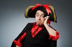 The man pirate against dark background. Man pirate against dark background stock photos