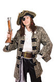 Man in a pirate costume Stock Image