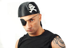 Man in a pirate costume Royalty Free Stock Photos