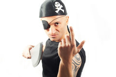 Man in a pirate costume Stock Photos