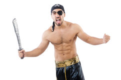 Man in pirate costume Royalty Free Stock Photo