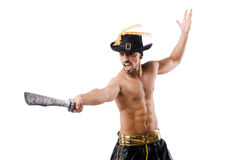 Man in pirate costume Stock Photography