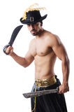 Man in pirate costume Stock Photo