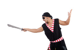 Man in pirate costume Royalty Free Stock Photos