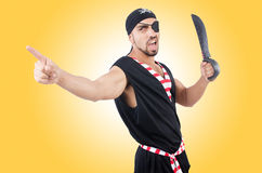 Man in pirate costume Stock Photos